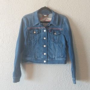 Levi's Jackets & Coats - Levi's embroidered Tucker jean jacket sz M